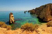 Dona Ana beach at Lagos, Algarve, Portugal — Stock Photo