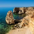 High view of Marinha beach at Lagoa, Algarve, Portugal — Stock Photo