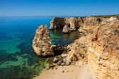 High view of Marinha beach at Lagoa, Algarve, Portugal — Foto de Stock