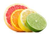 Citrus fresh fruit isolated on a white background — Stock Photo