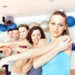 Group of stretching at the gym — Stock Photo