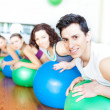 Royalty-Free Stock Photo: Group of in a class of Pilates at the gym