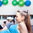 Group of in aerobics class at the gym — Stock Photo