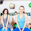 Group of in aerobics class at the gym - Stock Photo