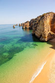 Dona Ana beach at Lagos, Algarve, Portugal — Foto de Stock