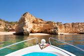 Cliffs at Algarve coast, Portugal — Stock Photo