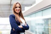 Beautiful businesswoman portrait at the office — Stock Photo