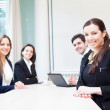 Group of business smiling at the office — Stock Photo #25243465
