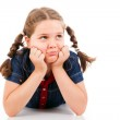 Young girl child looking at copyspace — Stock Photo #26040223