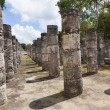 Stock Photo: Columns in Temple of Thousand Warriors, Mexico