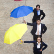 Business people holding umbrellas  — Foto Stock