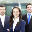 Businesswoman leader and his team — Stock Photo