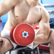 Strong man lifting weights in the gym — Stock Photo #33266273