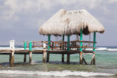 Caribbean bungalow at Riviera Maya, Mexico — Stock Photo