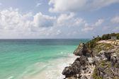 Beautiful beach at Tulum Mexico, Yutacan peninsula — Stock Photo