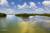 Sian Kaan lagoon, Riviera Maya, Mexico — Stock Photo