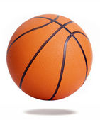 Orange basketball isolated over white background — Foto Stock
