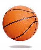 Orange basketball isolated over white background — Stock Photo