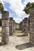 Columns in the Temple of a Thousand Warriors — Foto de Stock