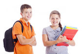 Happy school kids standing — Stock Photo