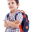 Pensive school kid looking up — Stock Photo #49240565
