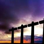 Crosses silhouette — Stock Photo #9378755
