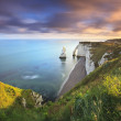 Sunrise over Etretat — Stock Photo