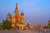 Basil's Cathedral from red square — Stock Photo