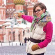 Young woman on Red Square — Stock Photo