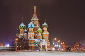 Night view of St. Basil's Cathedral — Stock Photo