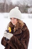 Winter joy. — Stock Photo