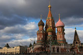 Saint Basil's Cathedral  from Vasilevsky descent, Moscow, Russia — Stock Photo