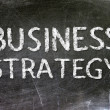 Business Strategy handwritten with white chalk on a blackboard. — Stock Photo #19112489