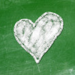 Love heart symbol on a blackboard — Stock Photo