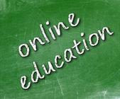 E-learning school geschreven op een schoolbord — Stockfoto
