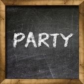 Party handwritten on blackboard — Stock Photo