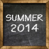 Summer 2014 handwritten on blackboard — Foto Stock