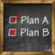 Plan A Plan B choice — Stock Photo