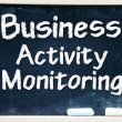 Business Activity Monitoring Intelligence handwritten with white chalk on a blackboard — Stock Photo
