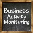 Business Activity Monitoring Intelligence handwritten with white chalk on a blackboard — Stock Photo #27639079