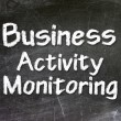 Business Activity Monitoring Intelligence handwritten with white chalk on a blackboard — Stock Photo #27639081