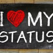 Stock Photo: I love My Status