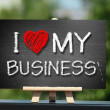 I love my business — Stock Photo