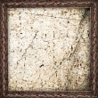 Stock Photo: Dirty and old material in leather frame as background or texture