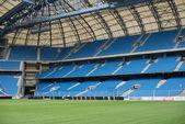 Modrá židle na stadionu — Stock fotografie