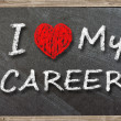 I love my career written with chalk — Stock Photo #30644495