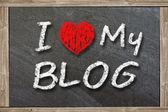 I love my blog — Stock Photo