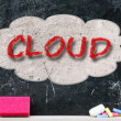 Stock Photo: Cloud concept