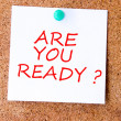 Are You Ready — Foto Stock