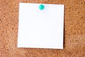 Nota em branco branca — Foto Stock